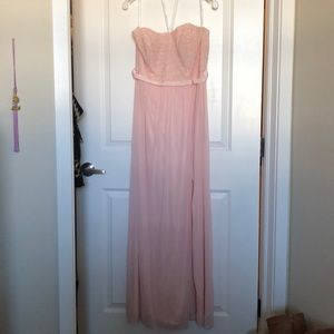 David's bridal bridesmaid dress, petal color